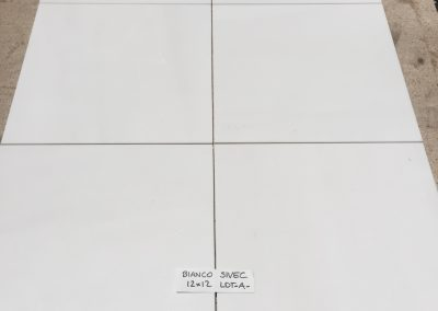 Bianco Sivec Polished 12″x12″ Lot A